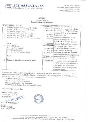 MKSP Kundra UC 01.10.2016 to 31.12.2016